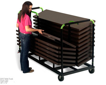 "18"" W x 6ft or 8ft GHD Storage Cart for Seminar Aluminum Tables"