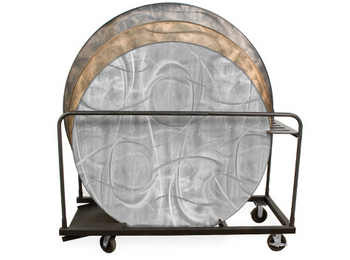 """60"""", 66"""", & 72"""" Round GHD Storage Cart for Aluminum Tables"""