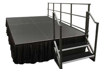 Alulite Step Units for Aluminum Stage Decks