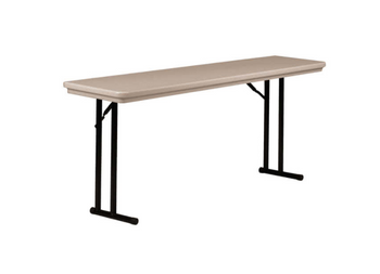 """R-Series By Correll 18"""" x 72"""" (6ft) Seminar Plastic Folding Table, with Offset Leg Model R1872-USA Made (CL-R1872)"""