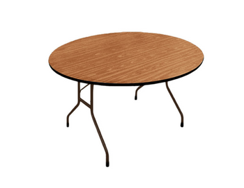 Correll Round Solid Wood Core High Pressure Laminate Folding Table-USA Made