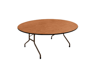 Correll Oval 60x72 Solid Plywood Core High Pressure Laminate Folding Table-USA Made (CL-PC6072P)