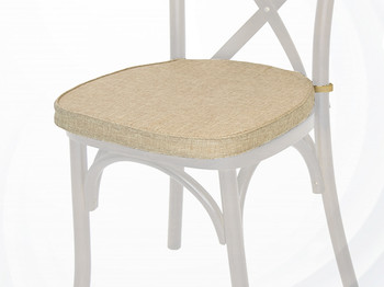 Polyester Cross Back Chair Cushion