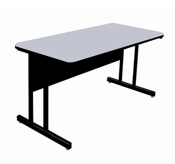 Correll Desk Height Work Station-High Pressure Laminate-USA Made (CL-WS)