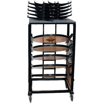 Transport and Storage Cart for High Top Cocktail Tables - 10 Table Capacity