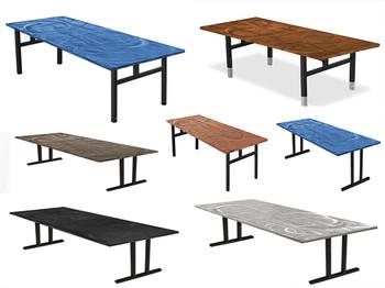 Swirl Seminar Aluminum Folding Table