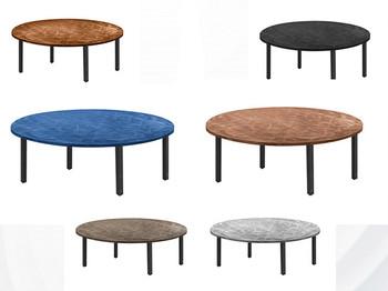 "Swirl 48"" Round Aluminum Folding Table with Individual Folding Legs"