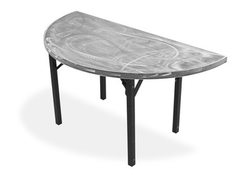 Swirl Half-Round & Quarter-Round Aluminum Folding Table with Individual Folding Legs