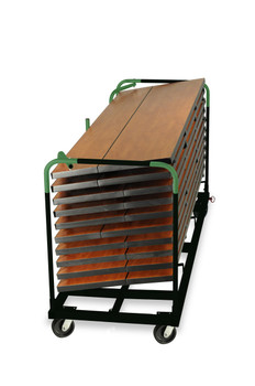 "30""W x 6ft or 8ft GHD Storage Cart for Banquet Aluminum Tables"