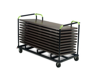 """30""""W x 6ft or 8ft GHD Storage Cart for Banquet Aluminum Tables"""