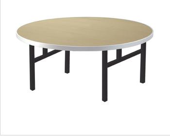 Alulite Round Aluminum Folding Table with H-Style Legs -Desert Tan