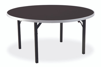 "Alulite 48"" Round Aluminum Folding Table with Individual Folding Legs"