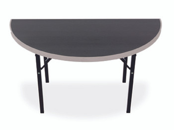 Alulite Half-Round & Quarter-Round Aluminum Folding Table with Individual Folding Legs