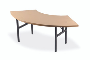 Alulite Serpentine Aluminum Folding Table with H-Style Legs