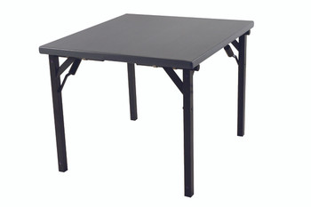 Alulite Aluminum Card Table with Individual Folding Legs-Mineral Bronze