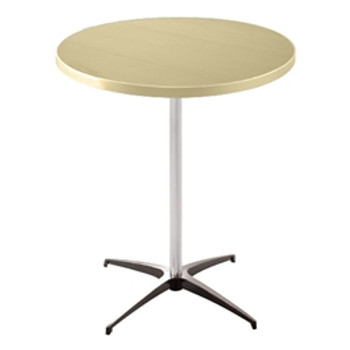 Alulite Aluminum Pedestal Cocktail Table