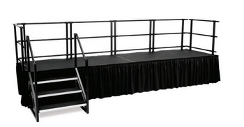 "Alulite 36"" Height Stage Railing for Aluminum Stage Decks"