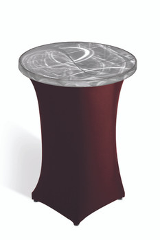 Round Pedestal Cocktail Spandex Skirting for Aluminum Tables