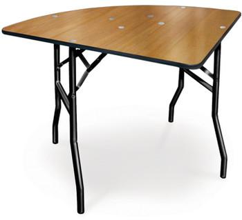 ProRent Plywood 1/4 Round Folding Table-USA Made (MC-PR-QTRROUND)