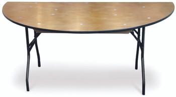 ProRent Plywood Half-Round Folding Table-USA Made (MC-PR-HALFROUND)