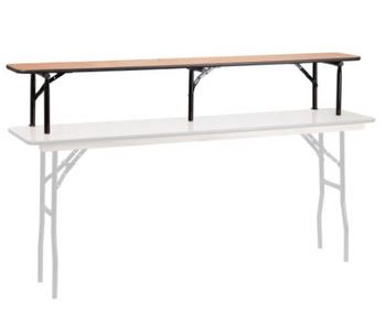High Pressure Laminate Bar Riser Shelf-USA Made (MC-LAM-BARRISER)