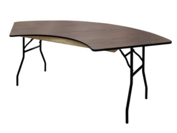 High Pressure Laminate Serpentine Folding Table-USA Made
