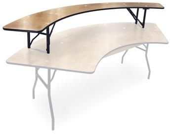 High Pressure Laminate Serpentine Folding Table-USA Made (MC-70950L)