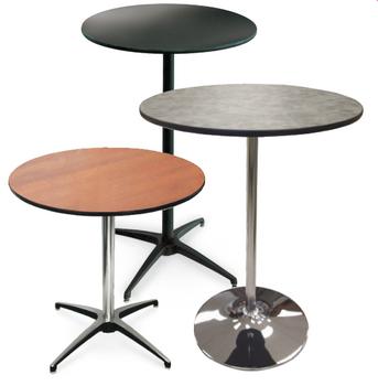 High Pressure Laminate Pedestal Cocktail Table-USA Made