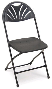 Series 5 Fanback Plastic Folding Chair-Made in the USA