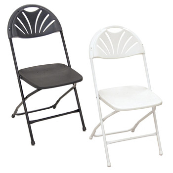 Series 5 Fan Back Plastic Folding Chair-Made in the USA