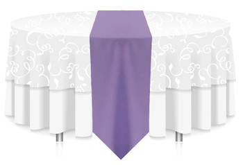Solid Polyester Table Runner Linen-Amethyst