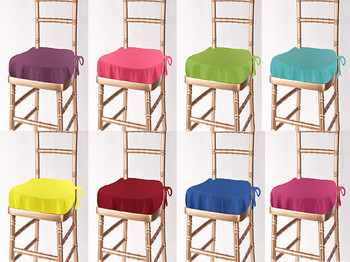 Solid Polyester Chiavari Chair Seat Cushion Cover