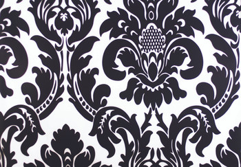 Dozen (12-pack) Alterio Black & White Damask Table Napkins (SS-NAPKIN-ALTERIO)