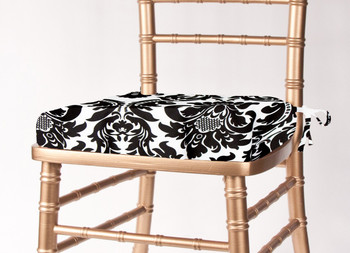 Alterio Black & White Damask Chiavari Chair Cushion Cover (SS-SCC-ALTERIO)