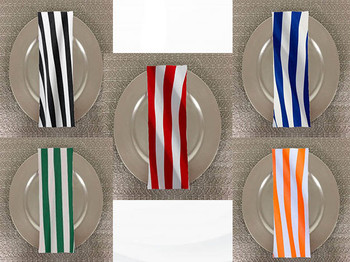 Dozen (12-pack) Awning Print Polyester Table Napkins