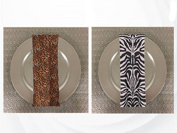 Dozen (12-pack) Animal Print Polyester Table Napkins