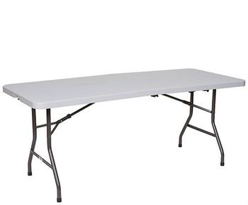 Premier Series Fold In Half Blow Molded Plastic Folding Table (PR-HALF)