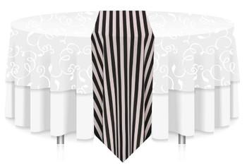 "12""W Awning Print Polyester Table Runner Linen"