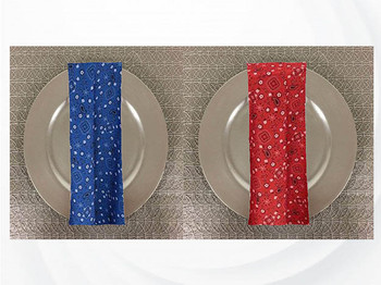 Dozen (12-pack) Bandana Print Polyester Table Napkins
