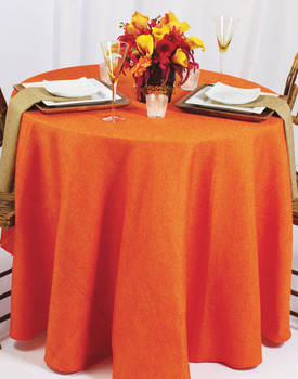 Basket Weave Rustic Faux Burlap Tablecloth Linen