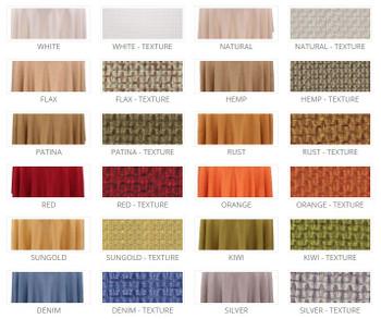 Basket Weave Rustic Faux Burlap Tablecloth Linen Colors & Textures