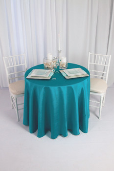 Solid Bengaline Textured Tablecloth Linen
