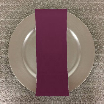 Dozen (12-Pack) Solid Bengaline Textured Table Napkins -Amethyst