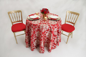 Beethoven Damask Tablecloth Linen