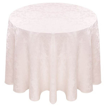 Beethoven Damask Tablecloth Linen-Antique White