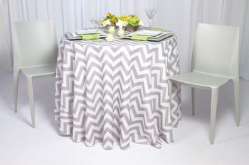 Chevron Print Polyester Tablecloth Linen