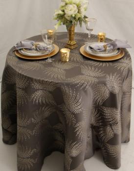 Dot Art Deco Jacquard Tablecloth Linen