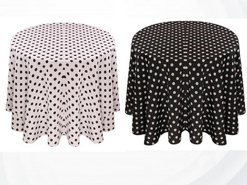 Dots Print Polyester Tablecloth Linen