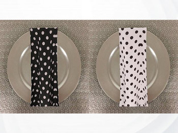 Dozen (12-pack) Dots Print Polyester Table Napkins
