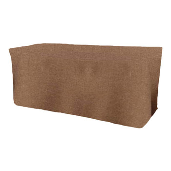 Faux Burlap Rustic Poly Textured Fitted Table Box Linen